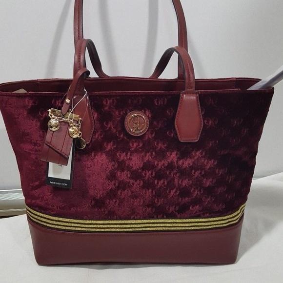 ec53abe4a Nine West Bags | Caden Double 95 Oxblood Tote Shopper | Poshmark